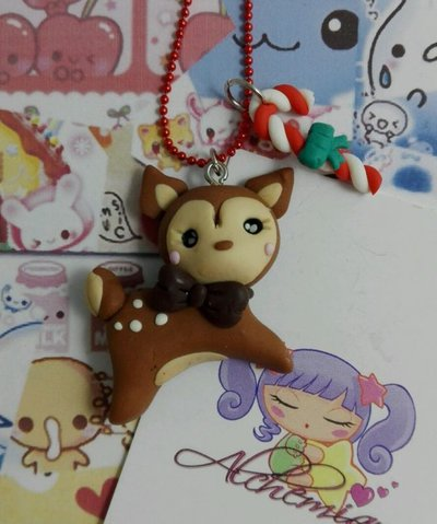 Collana Kawaii FIMO cerbiatto bamby alchemian lolita sweet pastel