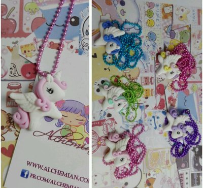 Collana Kawaii unicorno cavallino Alchemian fatta a mano lolita gothic pastel