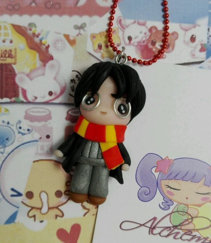 Collana Harry Potter kawaii style,by Alchemian, fatto a mano in FIMO