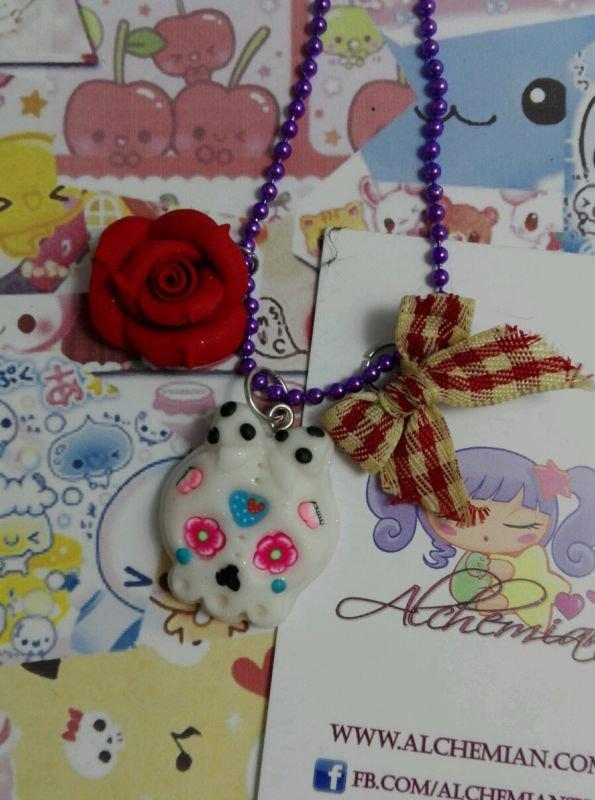 Collana Teschio Messicano, decorato, kawaii style, lolita sweet