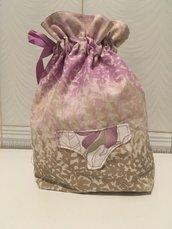 Sacca porta biancheria intimo/ costumi lilla