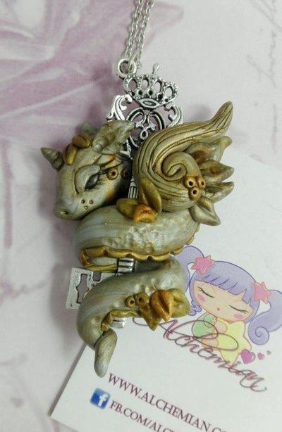 Collana drago dragon trainer magia protezione amuleto guardiano sogni fortuna