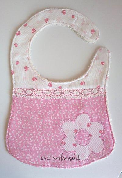 bavaglino neonato bimba
