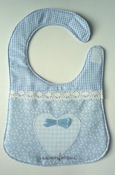 bavaglino neonato bimbo stoffa