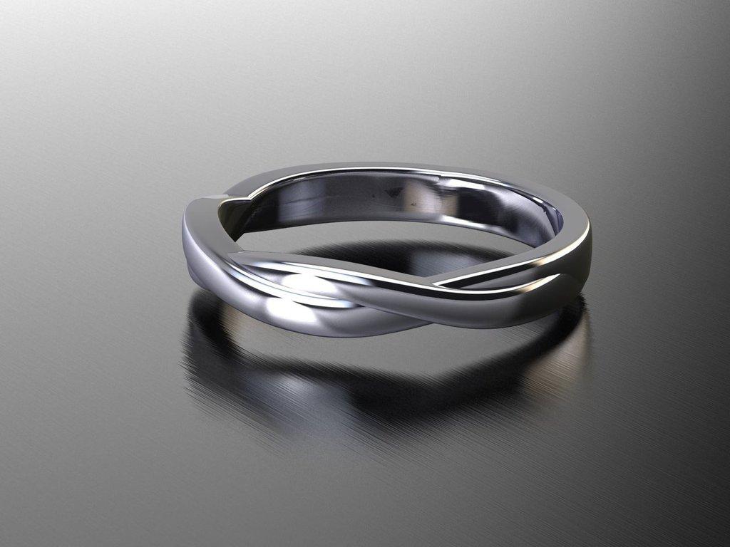 anello ONDE argento