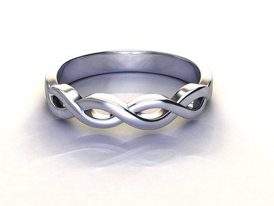 anello intrecciato argento