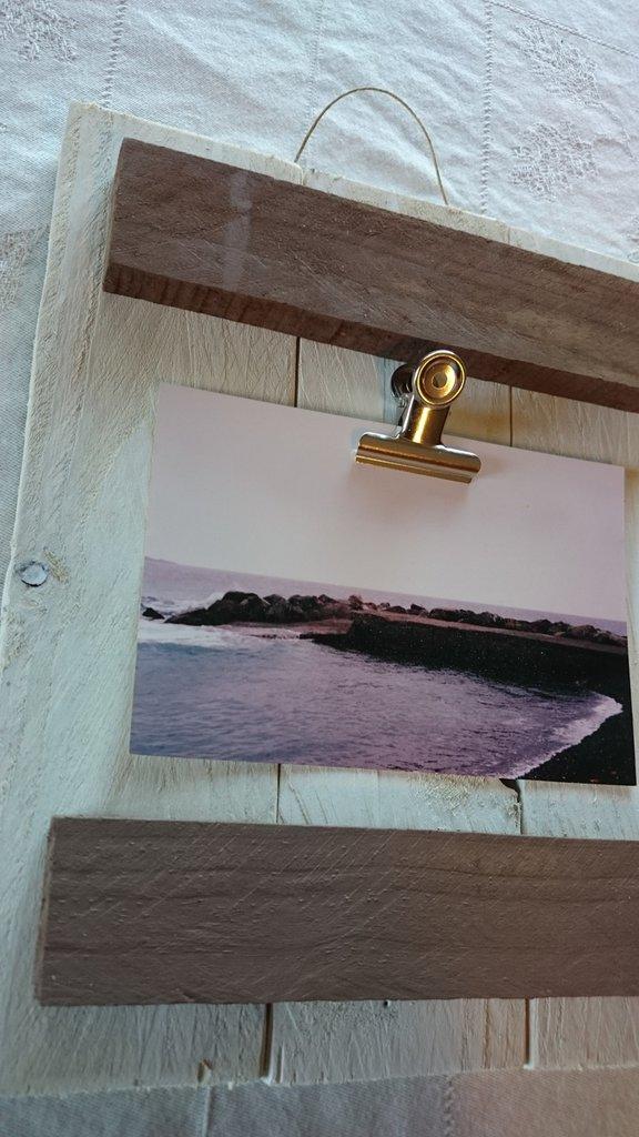 Portafoto da parete con clips bianco per la casa e per for Portafoto verticale da parete