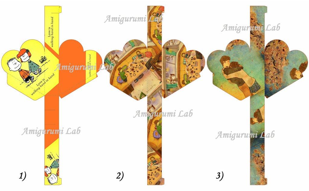 Scatoline cuore stampabili ,printable box gift