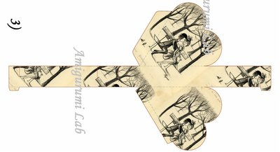 Scatoline cuore stampabili ,printable love box gift- Peynet