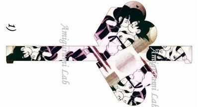 Scatoline cuore stampabili ,printable love box gift- Dragon ball