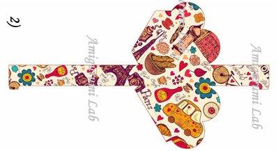Scatoline cuore stampabili ,printable love box gift- Paris