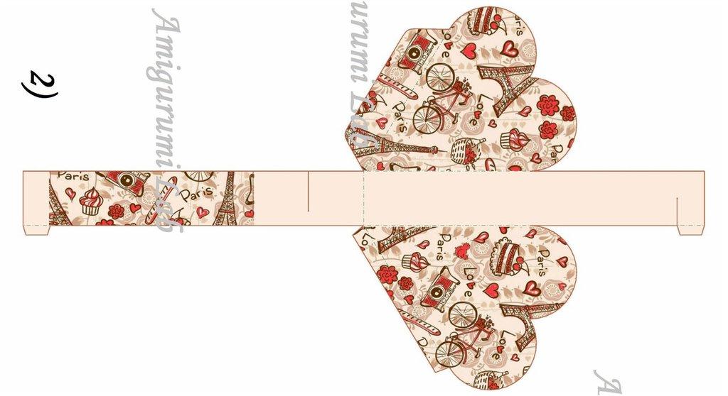 Scatoline cuore stampabili ,printable love box gift
