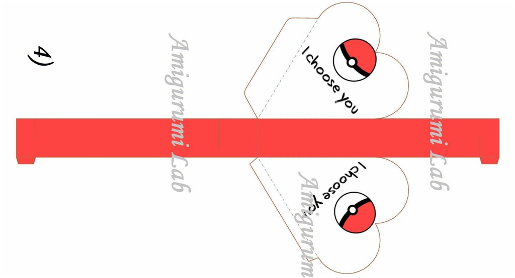 Scatoline cuore stampabili ,printable love box gift- POKEBALL
