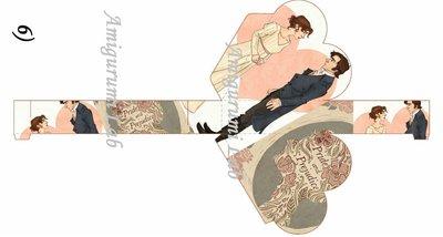 Scatoline cuore stampabili ,printable love box gift- Pride and Prejudice