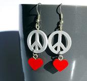 Orecchini pendenti Peace&Love