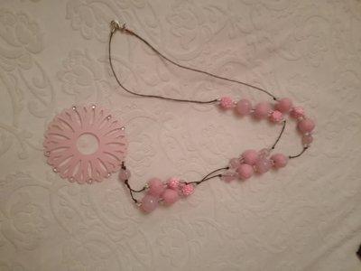 collana ciondolo rosa