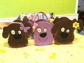 Borsetta in feltro con decorazioni per bambina o porta oggetti