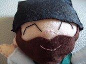 Gonario: Bambola Sarda uomo Giovane in pannolenci