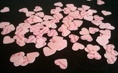 1000 coriandoli rosa a forma di cuore per coni matrimonio o bomboniere.