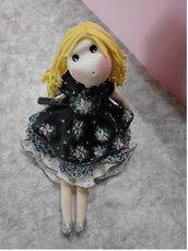 Bomboniera, Francesca, bambolina in pasta di mais