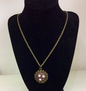 Collana color bronzo antico con cammeo pan di stelle