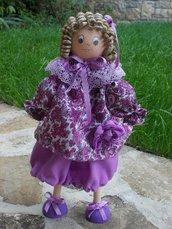 bomboniera battesimo bambola in legno