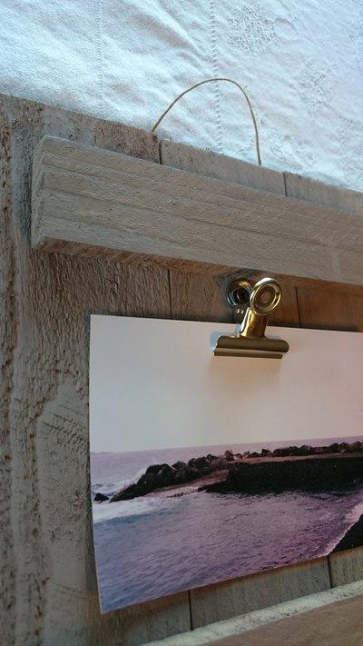 Portafoto da parete con clips marrone