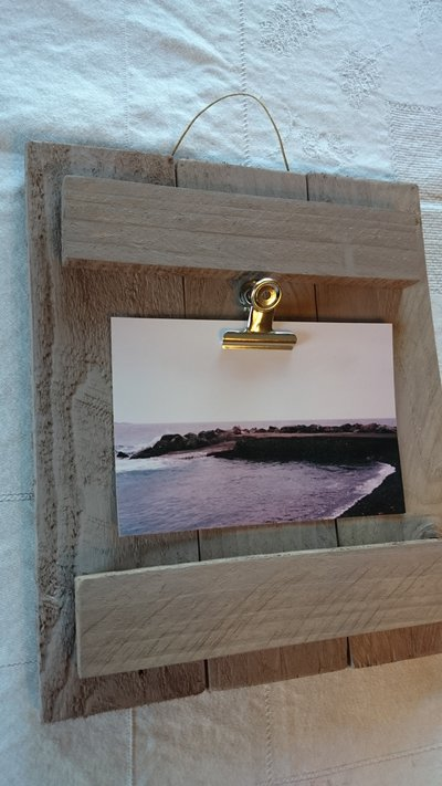 Portafoto da parete con clips marrone per la casa e per for Portafoto verticale da parete