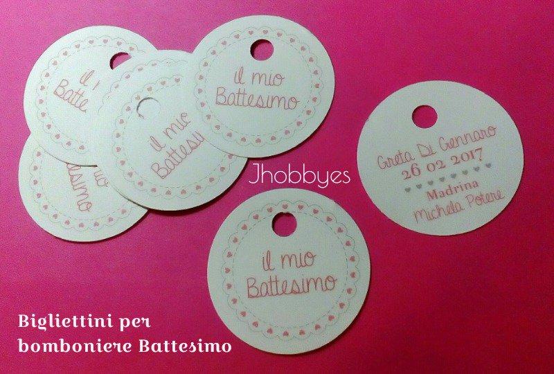Top Bigliettini bomboniere Battesimo - Feste - Biglietti e inviti - di  UK67
