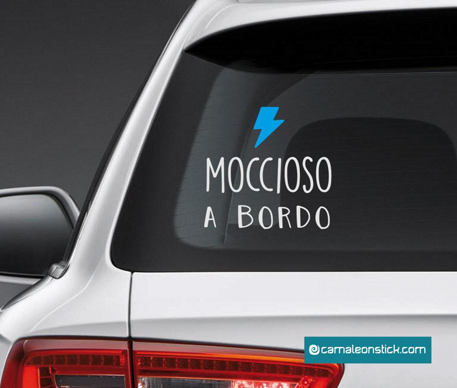 adesivo mocciosa a bordo per auto - adesivo auto per bambini - sticker vetro macchina