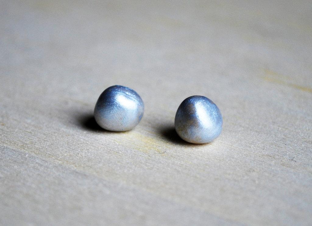 Orecchini pietra laccati argento