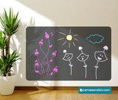 Lavagna adesiva per disegnare - adesivi murali bambini - lavagna da parete - stickers lavagna