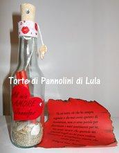 Idea regalo San Valentino - Messaggio bottiglia personalizzata-amore-anniversario-