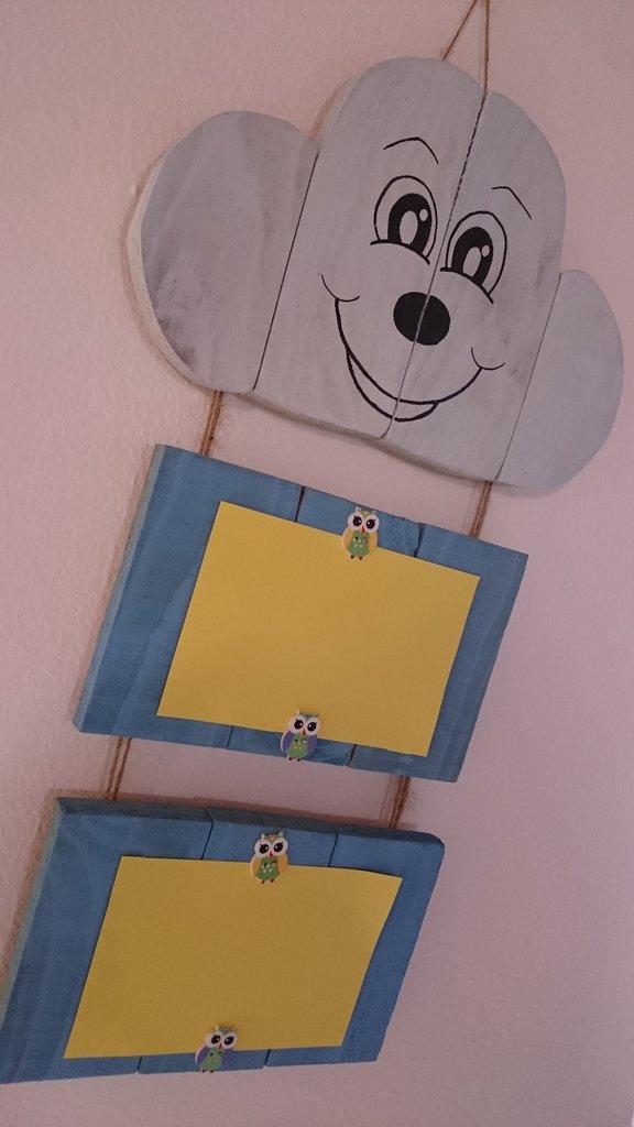 Nuvoletta portafoto in legno