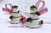 Mini Wedding Cake Segnaposto Calamita Matrimonio personalizzato, crea la tua torta nuziale a calamita