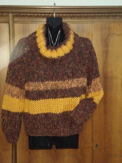 Maglione unisex con fascia gialla
