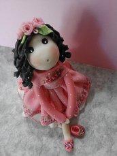 Bomboniera, bambolina in pasta di mais