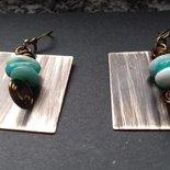 Orecchini in ottone e perle