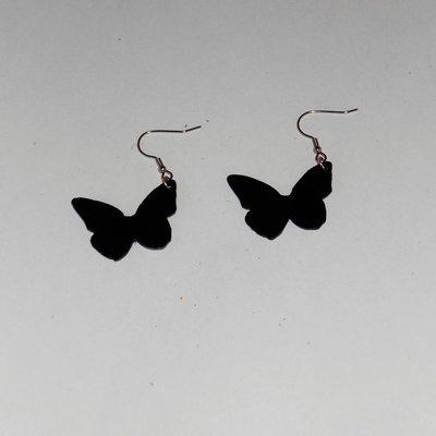 Orecchini in Vinile farfalle piccole