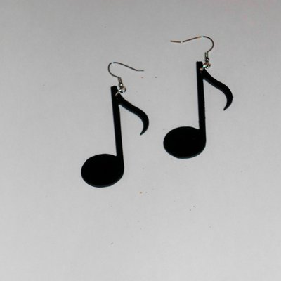 Orecchini in Vinile NOTA MUSICALE