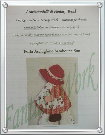 Tutorial Porta asciughino Sue Sunbonnet con asciughino correlato - versione cartacea