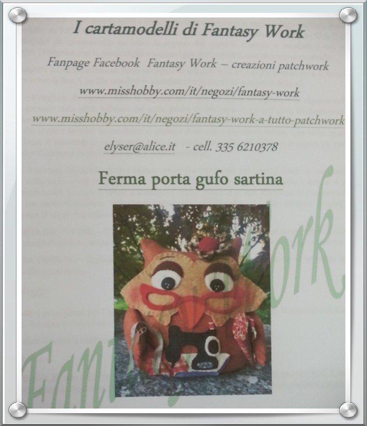 Tutorial Ferma Porta Gufo Sarta - versione cartacea
