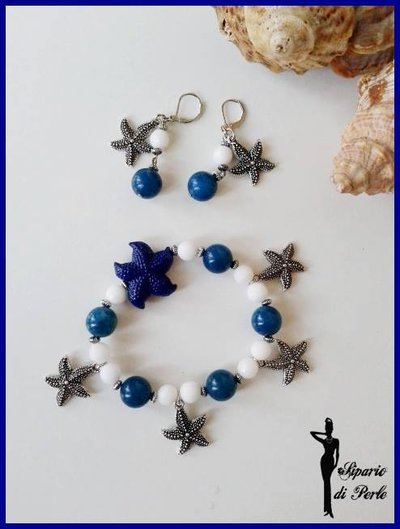 Parure bracciale+orecchini con stella marina - ANTEPRIMA ESTATE