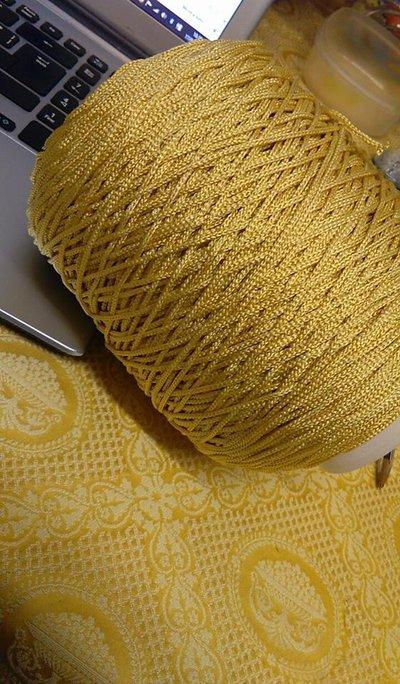 cordino thai effetto seta  giallino
