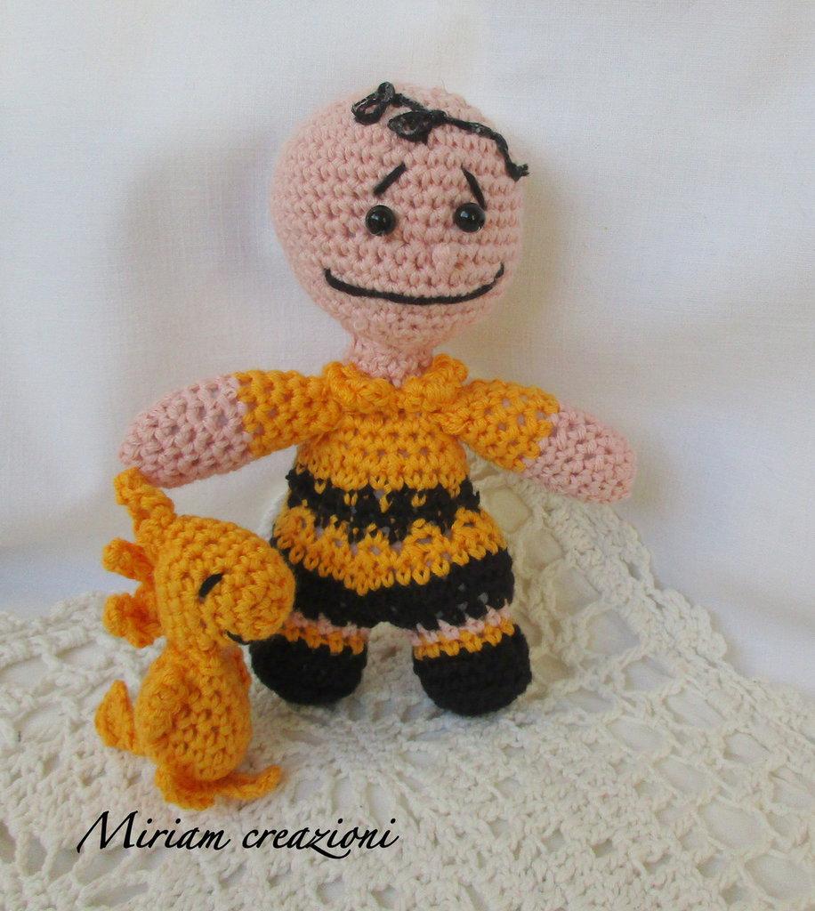 Charlie Brown e Woodstock Amigurumi