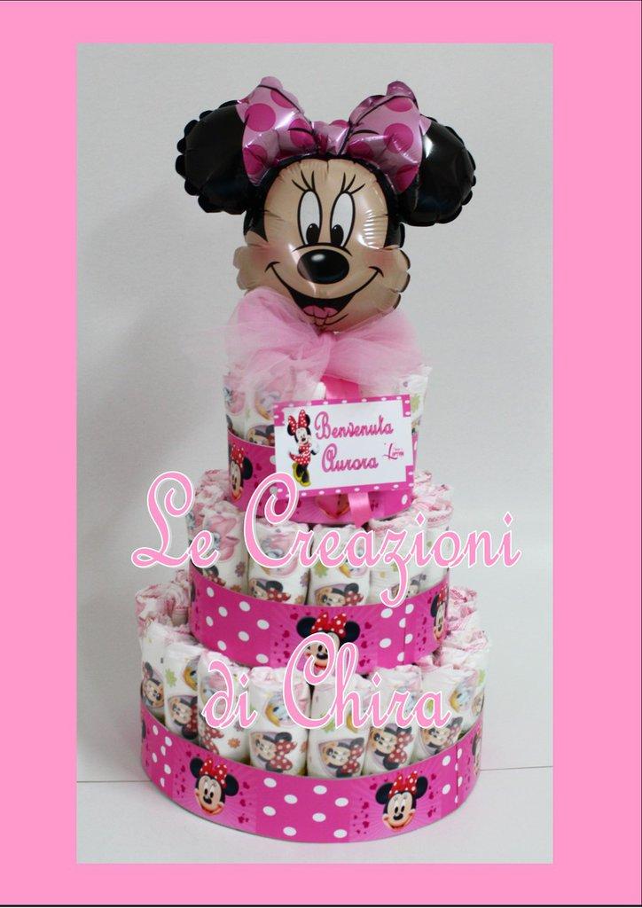 torta di pannolini topolina