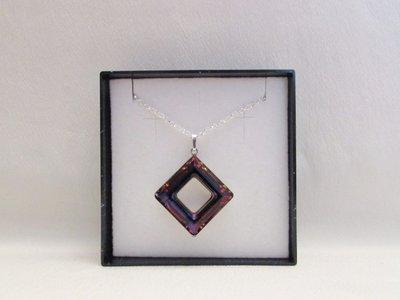 """Square Ring"" - Pendente in cristallo Swarovski"