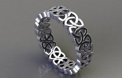 anello triscele argento