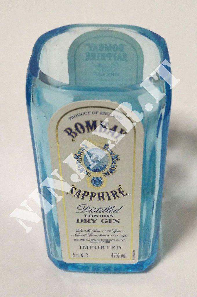 Shot Short Gin Bombay bicchierino da bottiglia mignon 5 cl