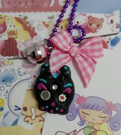 Collana Teschio Messicano Sugar Skull punk, decorato, kawaii style, lolita sweet